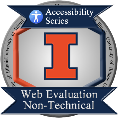 web eval non-technical badge