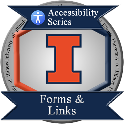 Forms and Links Badge