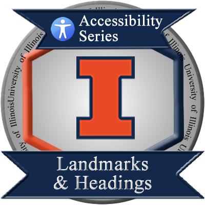 Landmark and Headings Badge