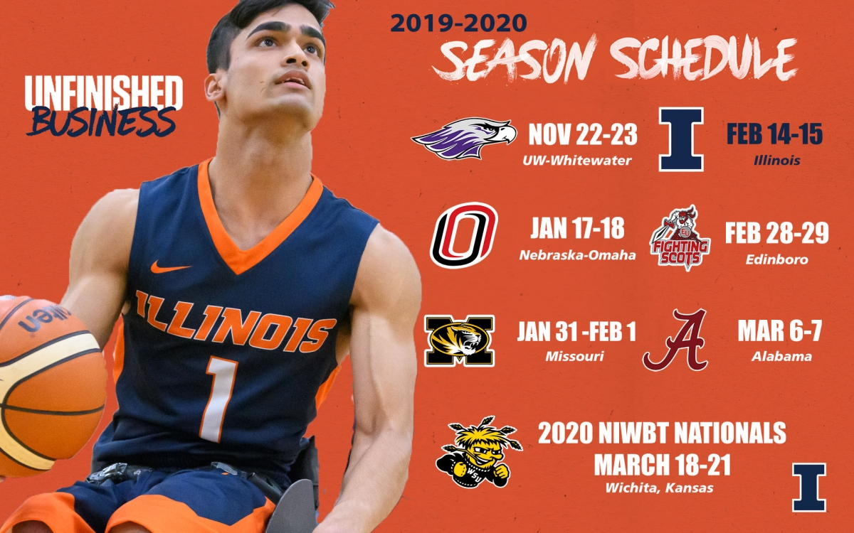 2019-2020 Men's Wheelchair Basketball Schedule