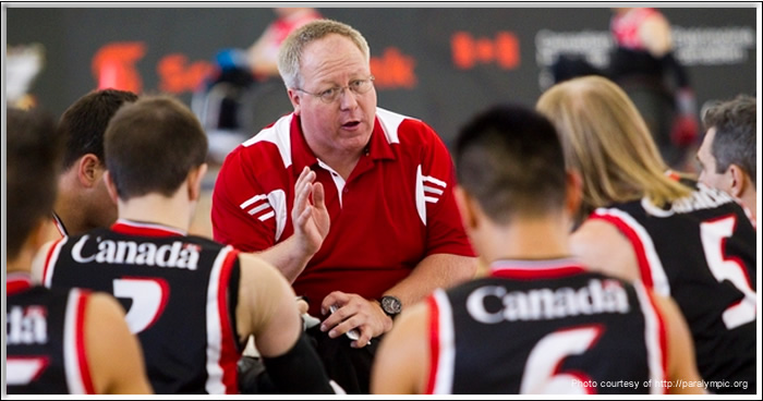 Kevin Orr coaches Team Canada