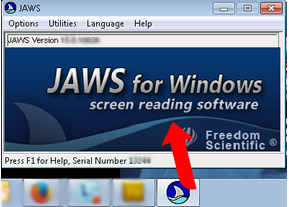 When JAWS is running, a dialog box will be availabe for configuration options