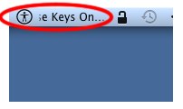 Screenshot of Mouse Keys On marquee in the menu bar