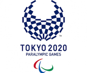 Red Blue and Green swirl symbol that represents paralympics