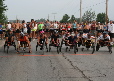 Wheelchair Track Team competes in the Mahomet Half-Marathon