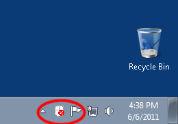 Screenshot showing the Mouse Keys icon in the taskbar with Mouse Keys not in use